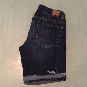 EUC Dark wash Denim Bermuda shorts